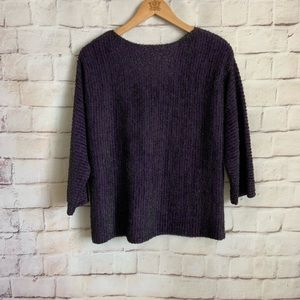 Ruby Rd. Sweaters - Ruby Rd Sweater, Purple,3/4  Sleeve,  NWOT PXL